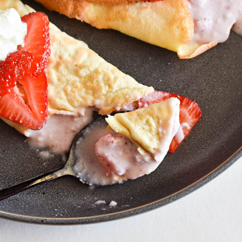Coconut Cream Crepes