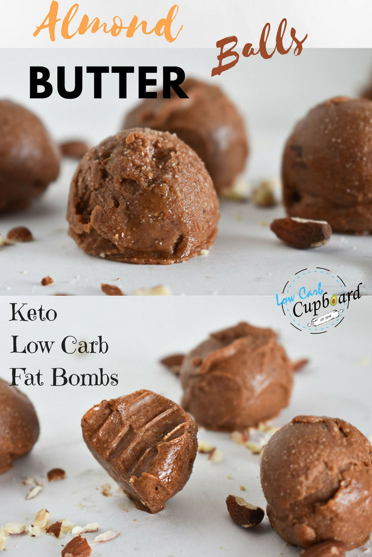 Easy Almond Butter Fat Bombs low carb high fat keto