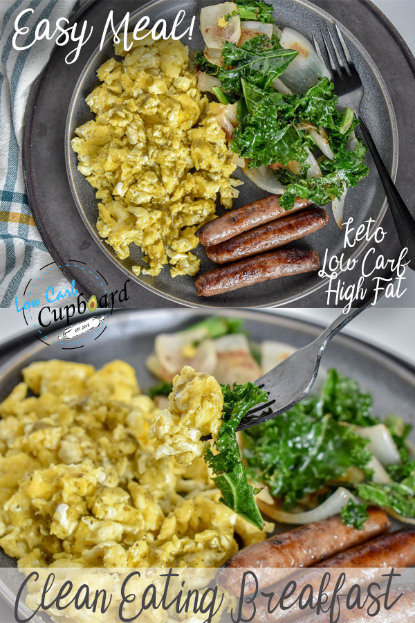 Easy and delicious keto breakfast! Perfect low carb high fat breakfast meal. #ketobreakfast #easybreakfast #keto #lowcarb #highfat