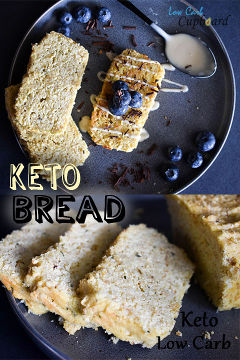 Low Carb Keto Bread. Delcious bread replacement. #keto #lowcarb #highfat