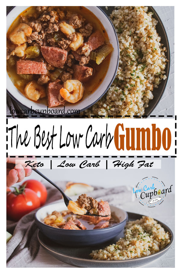 The Best Low Carb Gumbo. Keto Gumbo recipe is delicious and full of flavor! #keto #lowcarb #ketodiet