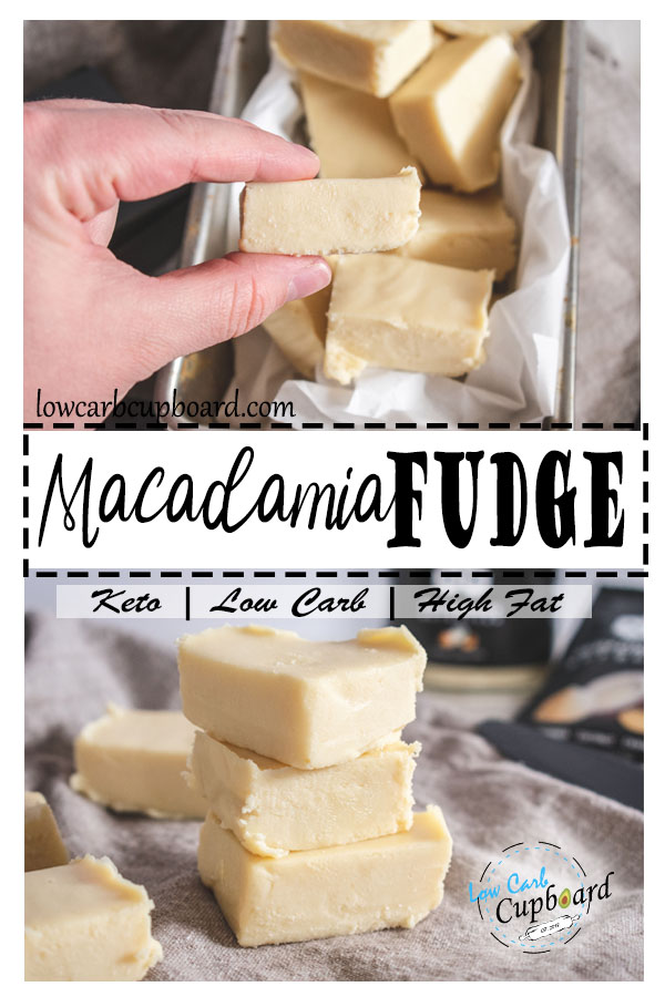 Easy and delicious macadamia fudge. low card keto fudge. #keto #ketofudge