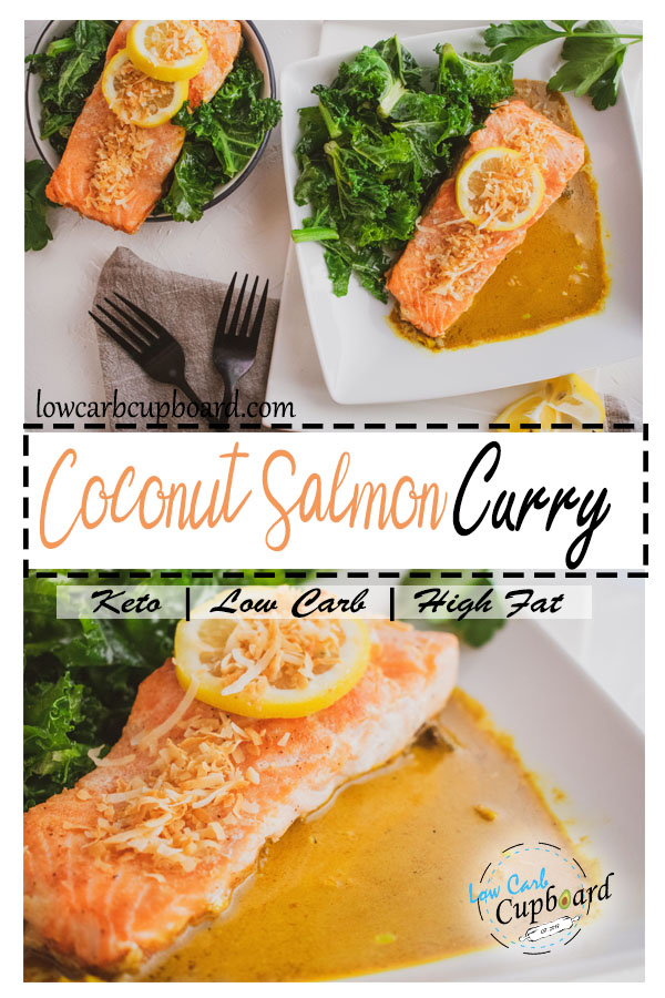Nutritional Keto Diet Coconut Salmon Curry. Delicious low carb high healthy fat meal #keto #ketodinner