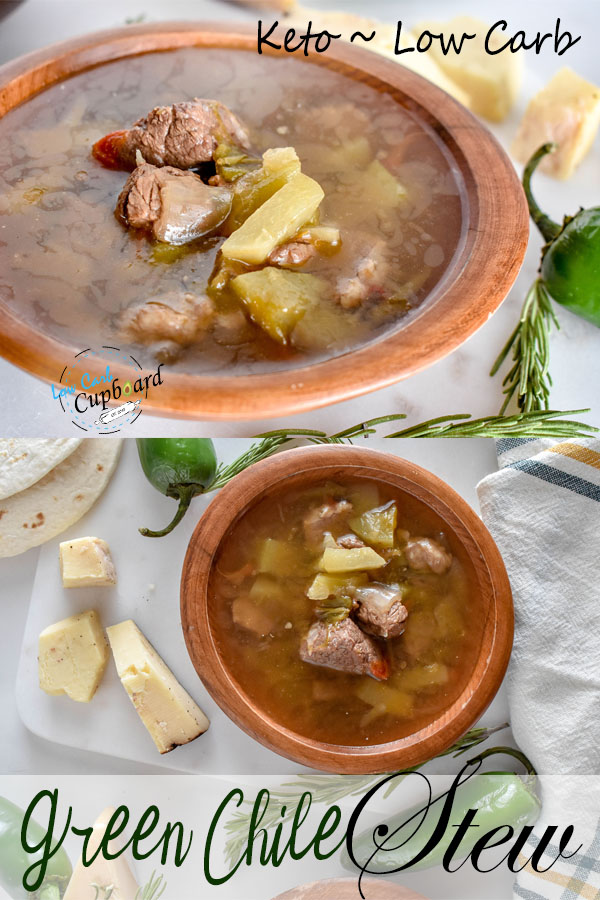 Low carb Green Chile Stew! The perfect keto stew recipe! #ketogreenchilestew #keto #lowcarb #highfat