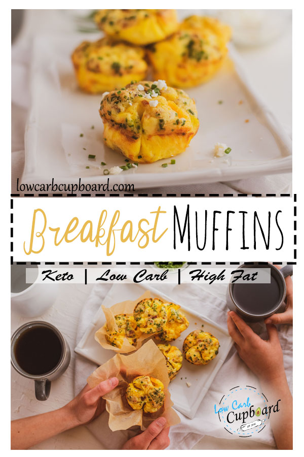 Low Carb Keto Breakfast Muffins. A great way to meal prep and be prepared for your week. #keto #ketobreakfast