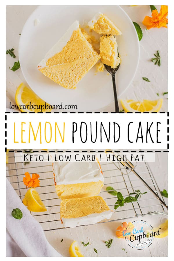 This low carb Lemon Pound Cake is the perfect summer dessert! A easy to make keto diet recipe that your friends and family will love. #keto #ketodessert