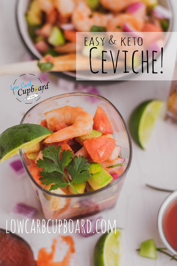 An easy and delicious low carb Ceviche recipe. The next best ketogenic diet appetizer perfect for any of your gatherings.