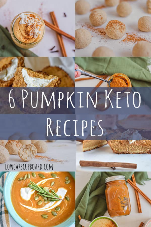 The best 6 pumpkin keto recipes all in one place. You don't have to search any longer, you have found the best low carb pumpkin spice recipes! #ketopumpkinrecipes #pumpkinrecipes #ketopumkinspice