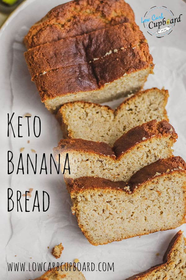 The best low carb and keto banana bread recipe on the internet! This recipes uses real bananas and is keto friendly! #ketobananabread #lowcarbbananabread