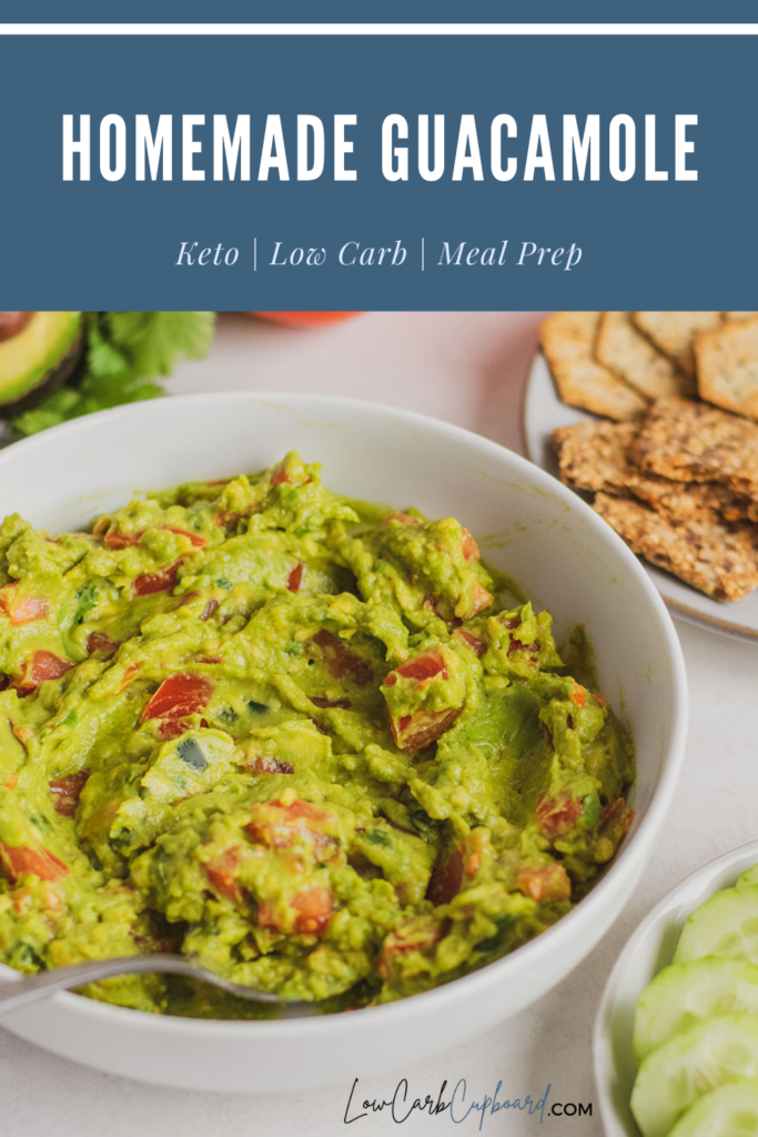 An easy to make low carb and keto Homemade Guacamole recipe full of flavor and authenticity of a traditional guacamole recipe. #ketoguacamole #homemadeguacamole